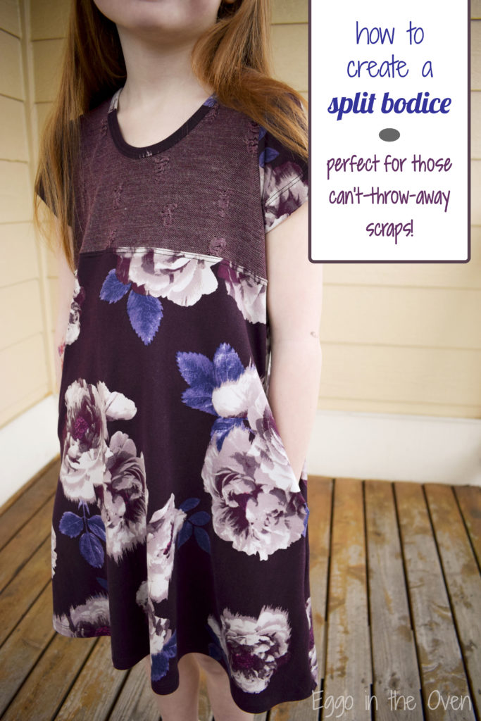 Create a fun twist on your favorite dress with an accent bodice - super quick and easy!