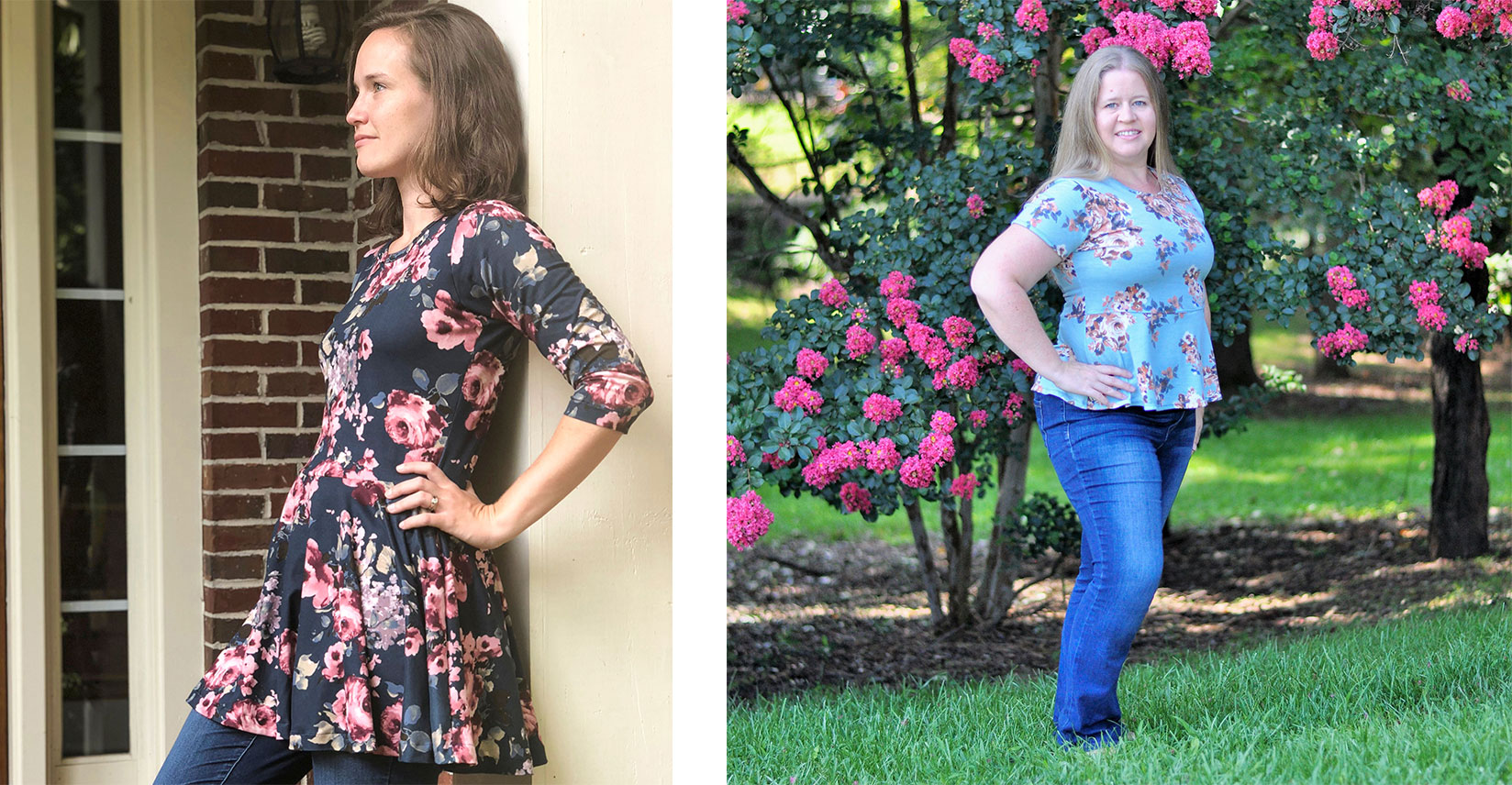 Left: Tunic Length Right: Top Length