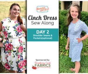 Cinch Dress Sew Along Day 2