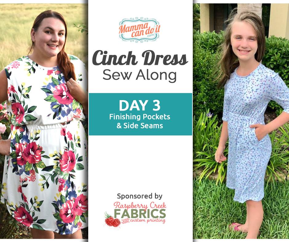 Cinch Dress Sew Along Day 3
