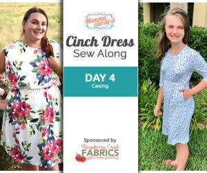 Cinch Dress Sew Along Day 4